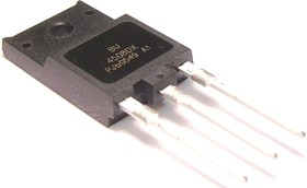 BU4508DX.127, NPN HD 1500/800В/ 8А/45Вт 400 нс + Диод, [SOT-199]