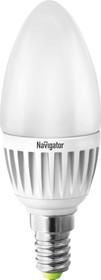 NLL-C37- 5-230-2.7K-E14-FR-DIMM (94376), Лампа светодиодная диммируемая (свеча) 5Вт 220В (теплый)