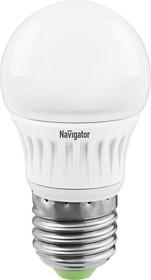 NLL-G45-5-230- 2.7K-E27-DIMM (94377), Лампа светодиодная диммируемая (шар) 5Вт 220В (теплый)