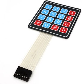 Sealed Membrane 4*4 button pad with sticker, Клавиатура 16-ти кнопочная для Arduino проектов