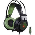 Наушники с микрофоном A4 Bloody J450 черный/зеленый 2.2м ...