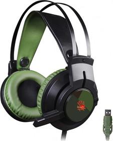 Фото 1/9 Наушники с микрофоном A4 Bloody J450 черный/зеленый 2.2м мониторные оголовье (J450)