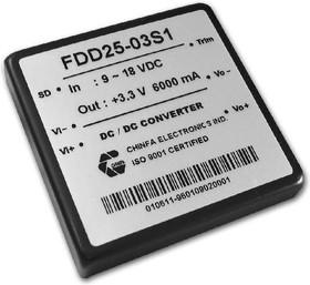 FDD25-12S1, DC/DC преобразователь, 25Вт, вход 9-18В, выход 12В/2.1А