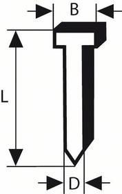 SK64-20G (50мм), Гвозди с потайной головкой,оцинкованные (2000шт)