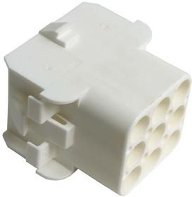 Фото 1/2 350782-1, Корпус разъема Universal MATE-N-LOK, розетка 9PIN, Matrix (Nylon, UL 94V-0) без контактов