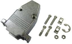 DS1047-09, Корпус к разъему 9 pin металл (короткий винт)