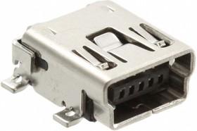 Фото 1/3 1734035-1, Разъем mini-USB на плату SMT