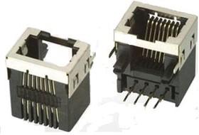 TJ8P8C (DS1125), Розетка 8P8C (RJ45) на плату угловая экранированная