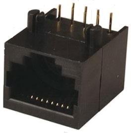 TJ10P10C (DS1135), Розетка 10P10C (RJ50) на плату угловая