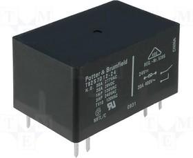 T92S7D12-24 [1-1393212-0], Реле 24VDC DPST 20A/28VDC