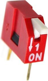 DS1040-01RT, DIP переключатель 1pin угловой красный