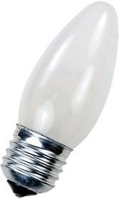 Лампа 40Вт, свеча матовая, цоколь E27