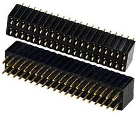 PBD1.27-40 гнездо на плату шаг 1.27мм 2x20 пр расст.между ряд 2.54 мм