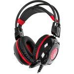 Фото 2/9 Наушники с микрофоном A4 Bloody G300 черный/красный 2.2м мониторные оголовье (G300)