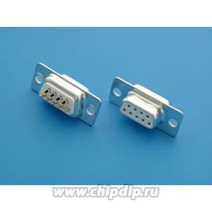 DB-9F (DS1033-09F), Гнездо 9 pin на кабель (пайка)