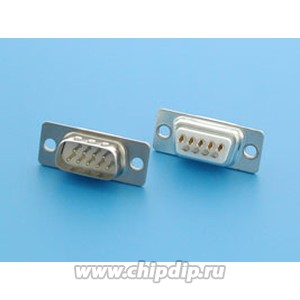 DB- 9M (DS1033-09M), Вилка 9 pin на кабель (пайка)
