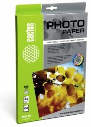 Фотобумага CACTUS CS-MA4100100, для струйной печати, A4, 100г/м2, 100 листов