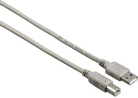 Кабель USB2.0 HAMA H-53722, USB A (m) - USB B (m), 1.5м [00053722]