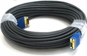 Кабель VGA DB15 (m) - DB15 (m) ферритовый фильтр 15м, серый [cable15]
