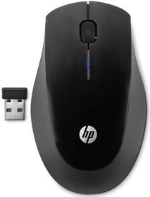 Мышь HP X3900 оптическая беспроводная USB, черный и серый [h5q72aa]