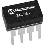 24LC65/SM, EEPROM, Smart Serial™, 64 Кбит, 8К x 8бит, Serial I2C (2-Wire) ...