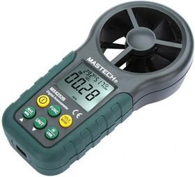 MS6252B, Измеритель скорости и температуры воздушного потока, термоанемометр с USB