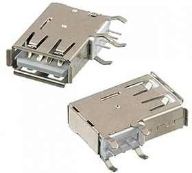 USB-A 111 (DS1095-01-W), Разъем на плату угловой
