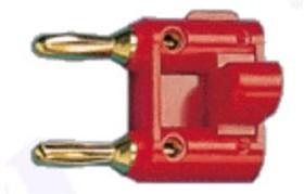 BP-217G (красный), Штекер сдвоенный, золотой