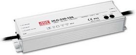 HLG-240H-24A, AC/DC LED, 24В,10А,240Вт,IP65 блок питания для светодиодного освещения
