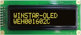WEH001602CLPP5N00000, Индикатор 1602 желтый 85х36 мм