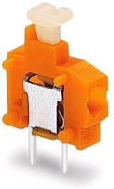 235-101 оранжевая, Клемма модульная 1pin 3,81мм