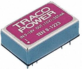 TEN 8-1222, DC/DC преобразователь, 8Вт, вход 9-18В, выход 12,-12В/335мA