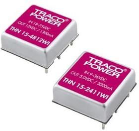 THN 15-2421WI, DC/DC преобразователь, 15Вт, вход 9-36В, выход 5,-5В/1.5A