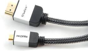 Фото 1/2 SM1814, Кабель HDMI A вилка - micro HDMI (D вилка), с ф/фильтрами, High Speed W/E, 2 м