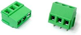 DXMG-3WAY (1715734 MKDS 1,5/3-5,08), Клеммник 3-контактный для корпусов DxMG