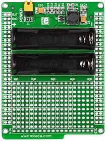Фото 1/4 MIKROE-712, Battery Boost Shield, Плата раширения для mikromedia bord с макетной областью и батарейным отсеком