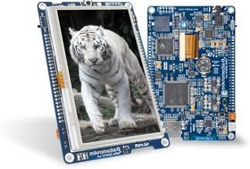 """Фото 1/2 MIKROE-1397, mikromedia Plus for STM32, Отладочная плата на основе STM32F407ZGT6 с TFT Touch Screen дисплеем 4.3"""" (480 х 272 px)"""