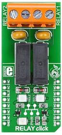 Фото 1/4 MIKROE-1370, RELAY click, Релейный модуль 5A 250VAC/30VDC форм-фактора mikroBUS