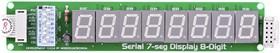 Фото 1/4 MIKROE-392, Serial 7-Seg 8-Digit Board, Дочерняя плата с 8-ю 7-сегментными LED индикаторами