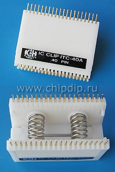 Фото - ITC-40A, Тест-клипса для микросхемы в корпусе DIP-40.