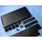 Фото 3/4 G17082UBK, Корпус для РЭА 431х203х86, пластик, черный, с вентиляционными отверстиями