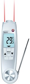 Фото 1/4 Testo 104 Термометр со складным зондом и сенсором ИК-измерения температуры,