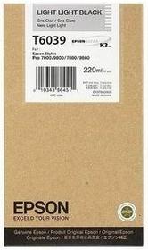 Картридж EPSON C13T603900 светло-серый