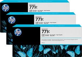 Тройная упаковка картриджей HP 771C B6Y37A, фото черный