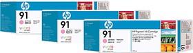 Тройная упаковка картриджей HP №91 C9487A, светло-пурпурный