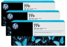 Тройная упаковка картриджей HP 771C B6Y36A, светло-голубой