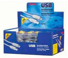 Кабель USB2.0 HAMA H-34694 (серый), USB A (m) - USB B (m), 1.5м [00034694]