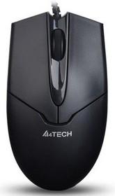 Мышь A4 V-Track Padless OP-550NU оптическая проводная USB, черный