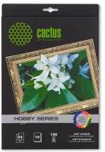 Фотобумага CACTUS для струйной печати, A4, 190г/м2, 10 листов [cs-da419010]