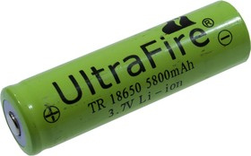 18650 LI-ION 3,7V 5800MAH ULTRAFIRE, аккумулятор